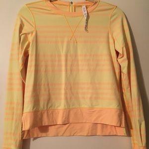 Lululemon yellow / orange hi lo longsleeve top